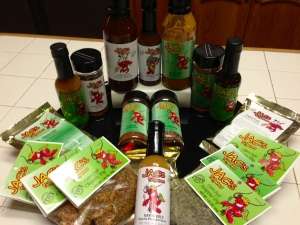 Just some of the many versatile sauces, rubs, marinades, dips, and seasonings offered by Tracy and Kristi Carter and Jac's Tailgaters
